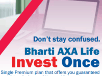 Bharti Axa Life Invest Once Plan Review