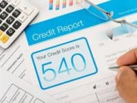 What is considered a low credit score for loans?